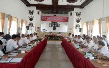 Suasan Rakordal triwulan III, di Aula Kantor Bappeda Lamandau, Rabu (5/10/2016)