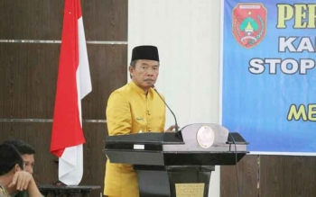 Bupati Kotawaringin Barat Bambang Purwanto BORNEONEWS/FACHRUDDIN F