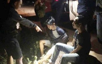 Tersangka MJ berhasil dibekuk polisi sesaat sebelum melakukan transaksi sabu di jalan Kolam-Pangkalan Bun. Selasa (4/10/2016). BORNEONEWS/FAHRUDDIN FITRIYA