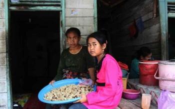Serba pas-pasan, Mufarrohah bersama ibunya tinggal di sebuah rumah kayu di Jalan Merpati, Kelurahan Sidorejo, RT12/12, Arut Selatan. BORNEONEWS/FAHRUDDIN FITRIYA