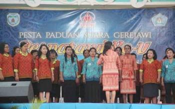 Kegiatan Pesparawi di Lamandau. Pemkab Lamandau menganggarkan Rp15 miliar sebagai penyelenggara Pesparawi Kalimantan Tengah XVI tahun 2017. BORNEONEWS/HENDI NURFALAH