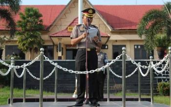 Wakapolres Lamandau, Kompol Agung Wirata. BORNEONEWS/HENDI NURFALAH