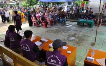 Suasana Pilkades yang dilaksanakan di tahun 2015 lalu di Kabupaten Mura.