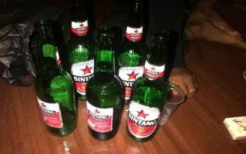Salah satu merek minuman keras di pasaran. Riduanto, Ketua Komisi A DPRD Kota Palangka Raya, Rabu (19/10/2016), mengungkapkan, DPRD akan merevisi Perda No 13 tahun 2013 tentang minuman keras. BORNEONEWS/TESTI PRISCILLA