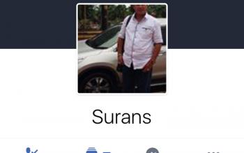 Akun Facebook Surans yang diretas haker dan digunakan untuk menipu para korbannya