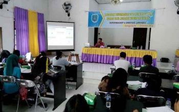 Suasana Sosialisasi Pengembangan Metrologi Legal yang diinisiasi Perindagkop UMKM Lamandau, Jumat (21/10/2016).