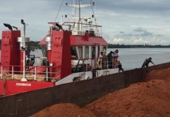 Terminal Khusus pengangkutan bahan tambang yang tidak memenuhi syarat/ketentuan yang berlaku di Sungai Cempaga. BORNEONEWS/WAHYUDI HENDRA