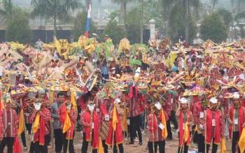 Suasana Gelaran Festival 1000 bukung tahun 2015 lalu.