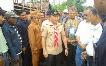 Gubernur Kalimantan Tengah, Sugianto Sabran (seragam pramuka_. BORNEONEWS/M. MUCHLAS ROZIKIN
