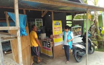 Warung makan Bangun Berkah, salah satu rumah makan di jalan Trans Kalimantan, Desa Mantaren, Kecamatan Kahayan Hilir, Pulang Pisau yang dibobol maling. BORNEONEWS/JAMES DONNY