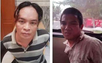 Lesmana, alias Iis, 33, dan Roni Setiawan, 32, ditangkap di barakan yang berada di Jalan Pakunegara, Gang Sesepat, Kelurahan Baru. Senin (7/11/2016), sekitar pukul 12.30 WIB. BORNEONEWS/FAHRUDDIN FITRIYA