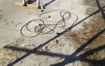 Lokasi tewasnya Nur Uripto (40), warga asal Purbalinggo, Jawa Timur. Mandor ini tewas, Rabu (9/11/2016), tersengat listrik saat mengecek pengerjaan besi penyangga RS Kalampangan. BORNEONEWS/BUDI YULIANTO