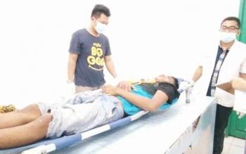 Jenazah Joni Iskandar, warga Jalan Kenangan, Kasongan, terbujur kaku di ruang mayat RSUD Mas Amsyar Kasongan, Senin (14/11/2016) dinihari. ISTIMEWA
