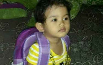 Intan Olivia Marbun, usia dua tahun ;ima bulan, Korban radikalisme Gereja Oikumene Samarinda. (iSTIMEWA)