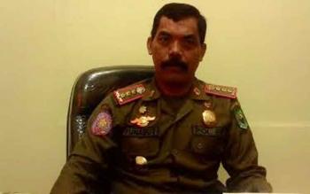 Kepala Satuan Polisi Pamong Praja Kabupaten Kapuas, Yunabut. BORNEONEWS/DJEMMY NAPOLEON
