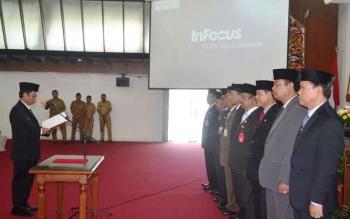 Pengukuhan Forum Sekda se-Kalteng di Aula Jayang Tingang, Kantor Gubernur Kalimantan Tengah. BORNEONEWS/ROZIKIN