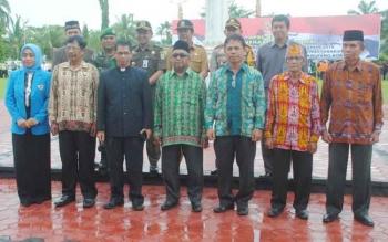 Para ketua Ormas dan Orda di Barito Selatam. BORNEONEWS/LAILY MANSYUR