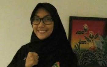 Atlet Lailatul Badriyah. BORNEONEWS/IRWANSYAH