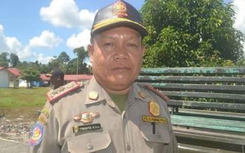Kasat Pol PP Kabupaten Katingan, Pimanto. BORNEONEWS/ABDUL GOFUR.