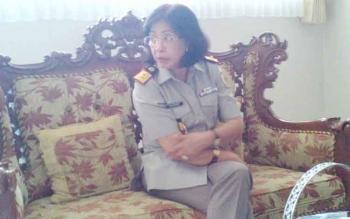 Kepala BPN Kalimantan Tengah, Ida Aniyati Frans. BORNEONEWS/BUDI YULIANTO