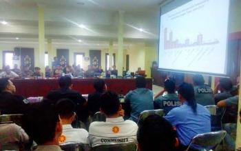 Komisi Penanggulangan Aids (KPA) Kalimantan Tengah, Kamis (24/11/2016), menyosialisasikan pengetahuan tentang HIV/AIDS. Dari 810 penderita, enam di antaranya TNI dan Polri. BORNEONEWS/BUDI YULIANTO