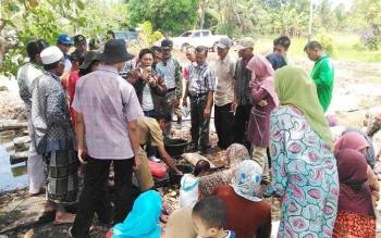 Dinas Pertanian dan Peternakan (Distanak) Sukamara memberikan pelatihan kepada petani di Kecamatan Pantai Lunci Kabupaten Sukamara beberapa waktu lalu. BORNEONEWS/NORHASANAH