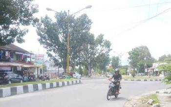 Bundaran baru di Jalan Tjilik Riwut yang nantinya akan dipasangi rabu-rambu lalulintas oleh Dinas Perhubungan Komunikasi Informatika Kebudayaan dan Pariwisata ISTIMEWA
