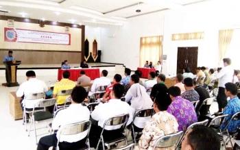 Kegiatan sosialisasi pemantapan stabilitas sosial politik, di Bappeda Lamandau, di Nanga Bulik, Selasa (29/11/2016). BORNEONEWS/HENDI NURFALAH