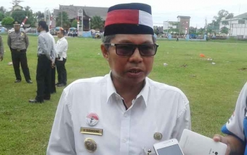 Ketua Komisi Penanggulangan AIDS Kabupaten Seruyan, Sudarsono, yang juga Bupati Seruyan. BORNEONEWS/PARNEN