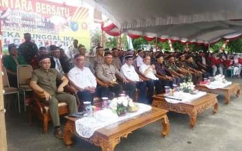 Apel Nusantara Bersatu di Kabupaten Kapuas, Rabu (30/11/2016). Ketua DPRD Kapuas, Algrin Gasan menyambut hangat acara itu. Ia menilai ikatan persaudaraan perlu terus dipupuk. BORNEONEWS/DJEMMY NAPOLEON