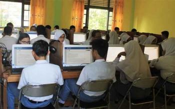 Ujian Negara di Sampit. DOK BORNEONEWS