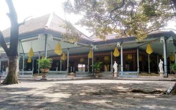 Aula atau pendopo tempat Pakubuwana menerima tamu dan menggelar acara Kesunanan Surakarta Hadiningrat. BORNEONEWS/RONI SAHALA