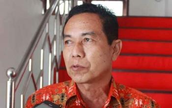 Kepala Badan Penanggulangan Bencana Daerah Gunung Mas, M. Rusdi. BORNEONEWS/EPRA SENTOSA