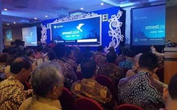 Sosialisasi tax amnesty untuk pengusaha Kalimantan di Kota Balikpapan, Senin (5/12/2016).