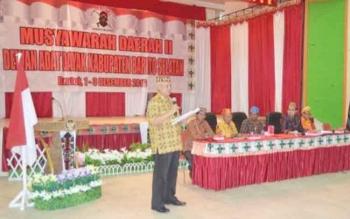 Musda DAD II Kabupaten Barito Selatan, di GPU Jaro Pirarahan Buntok, 1-3 Desember 2016, salah satu agendanya memilih ketua masa bakti 2016 – 2021, terpaksa harus diulang enam bulan ke depan. BORNEONEWS/URIUTU DJAPER