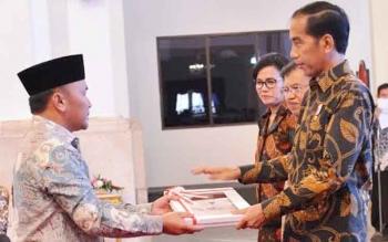 Gubernur Sugianto Sabran terima DIPA dari Presiden Jokowi, Rabu (7/12/2016
