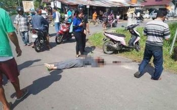 Kecelakaan menelan korban jiwa kembali terjadi di Palangka Raya. Kali ini, seorang siswi sekolah menengah kejuruan (SMK), Yuniae Lurie, 17. BORNEONEWS/BUDI YULIANTO