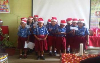 Keluarga Besar SDN Buntok IV Rayakan Natal Besar