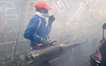 Tim Dinkes Barito Selatan Antisipasi Sebaran Penyakit DBD dengan Fogging