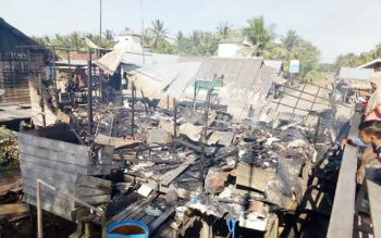 Ruko Satu Pintu di Desa Lempuyang Ludes Terbakar