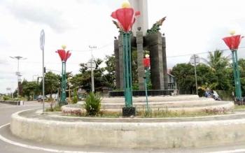 Suasana Jalan Batu Batanggu, Kota Nanga Bulik, Kabupaten Lamandau, lengang jelang libur akhir pekan dan tahun baru, Jumat (30/12/2016). BORNEONEWS/HENDI NURFALAH