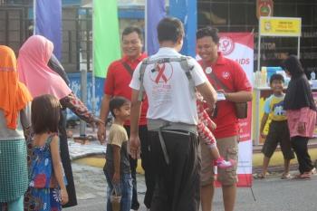 Sosialisasi pencegahan HIV/AIDS oleh Komisi Penanggulangan AIDS (KPA) Kabupaten Kotawaringin Barat, beberapa waktu lalu. BORNEONEWS/FAHRUDDIN FITRIYA