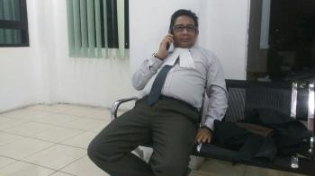 Wanto A Salan, Pengacara Mantan Direktur Utama Perusahaan Daerah Agrotama Mandiri, Reza Indriadi. BORNEONEWS/RONI SAHALA