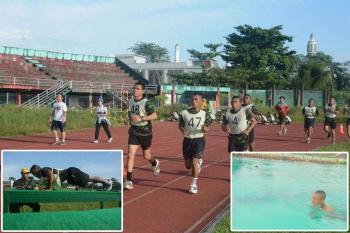 Kodam XII/Tanjungpura menguji kemampuan kesamaptaan awal Prajurit yang baru masuk Kodam XII/Tpr, dalam Pembinaan Tradisi (Bintra), di Lapangan Sultan Syarif Abdurahman Pontianak. BORNEONEWS/PENDAM TANJUNGPURA