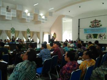 Rakordal Triwulan IV Tahun 2016, di Aula Bappeda Pulang Pisau, Kamis (5/1/2017). BORNEONEWS/JAMES DONNY
