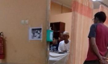 Korban saat dirawat di RSUD dr Murjani Sampit. BORNEONEWS/HAMIM