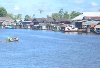 Sungai Jelai di Kabupaten Sukamara. BORNEONEWS/NORHASANAH
