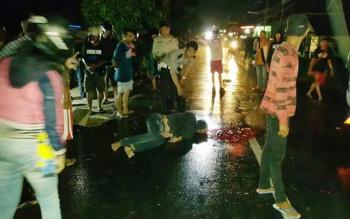 Brita Natalius, korban tewas akibat kecelakaan lalu lintas di Jalan Bukit Kaminting, Kota Palangka Raya, Kamis (5/1/2017) malam. (BORNEONEWS/BUDI YULIANTO)