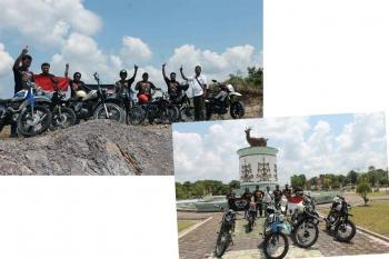Komunitas motor di Kabupaten Lamandau. Polres Lamandau akan menggandeng komunitas motor menjadi pelopor safety riding. BORNEONEWS/HENDI NURFALAH