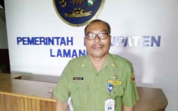 Plt Kepala BKPP Lamabdau, Marinus Apau. BORNEONEWS/HENDI NURFALAH